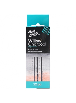 Large mont marte willow charcoal signature 12 pc mcg0057 v03 f