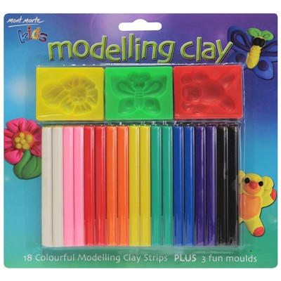 Large mont marte modelling clay 18pc mmkc0083 v03 f 2