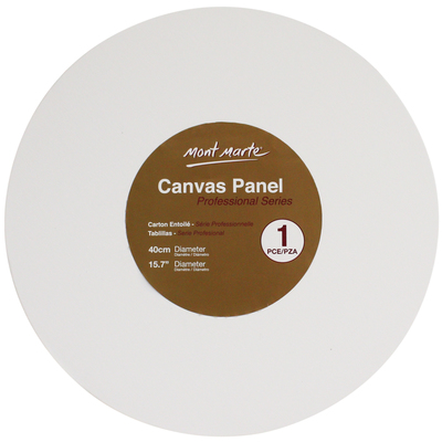Large cmpr0040 v01 mm canvas panel round 40cm 1pce front