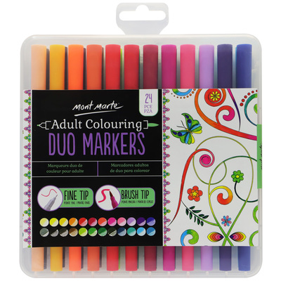 MM Duo Markers 24pc in Case MMPM0005