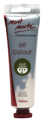 MM Oil Paint 100mls - Olive Green MPO0025