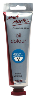 MPO0014 MM Oil Paint 100mls - Monastral Cerulean