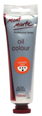 MM Oil Paint 100mls - Orange Red MPO0006