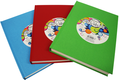 MSB0079 MM Sketch Book A4 Hard Cover 220pg 110gsm