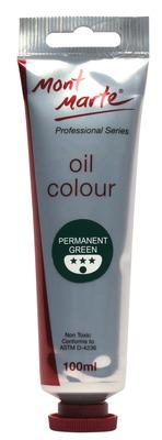MPO0024 MM Oil Paint 100mls - Permanent Green