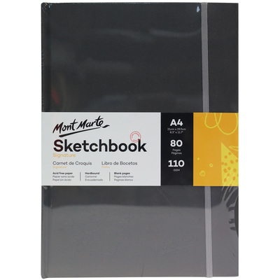 MM Hardbound Sketch Book 110gsm A4 MSB0090