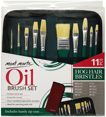 MM Brush Set in Wallet 11pc - Oil BMHS0031