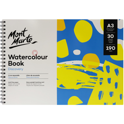 MM Watercolour Book 190gsm A3 MSB0121