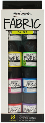 PMHS0022 MM Fabric Paint Set 8pc x 20ml