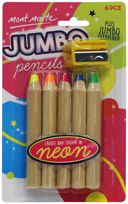 Large mmkc0195 v01 mm jumbo pencils neon 6pce front