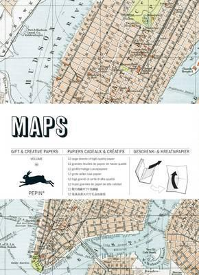 Maps - Gift & Creative Paper Book #60 (PP-WB060)