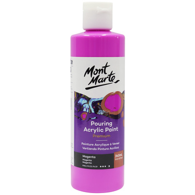 MM Pouring Acrylic 240ml - Magenta PMPP0008