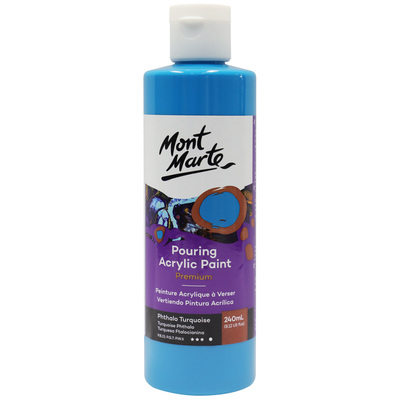 MM Pouring Acrylic 240ml - Phthalo Turquoise PMPP0019