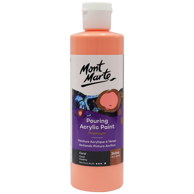 MM Pouring Acrylic 240ml - Coral PMPP0003