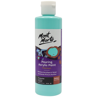 MM Pouring Acrylic 240ml - Turquoise PMPP0016