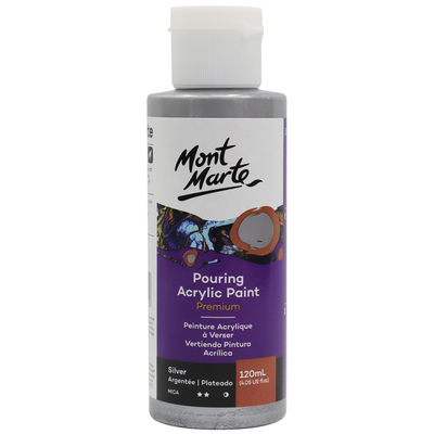MM Pouring Acrylic Paint 120ml - Silver PMPP1202
