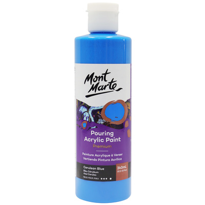 MM Pouring Acrylic 240ml - Cerulean Blue PMPP0017