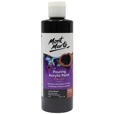 MM Pouring Acrylic 240ml - Lamp Black PMPP0022