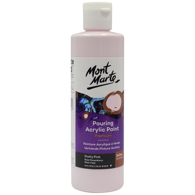 MM Pouring Acrylic 240ml - Dusty Pink PMPP0004