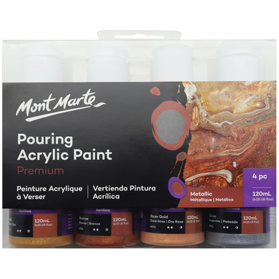 Large mont marte premium acrylic pouring paint 4pc 120ml set metallic pmpp4004 v01 f 2