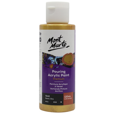 MM Pouring Acrylic Paint 120ml - Gold PMPP1201