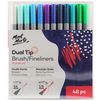 Homepage mont marte signature dual tip brush fineliners 48pc mmpm0024 v02 f