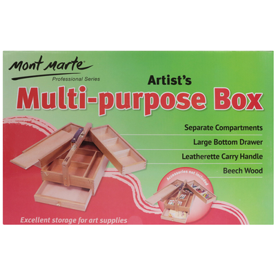 Large mont marte signature artists multi purpose box wood mea0009 v03 f