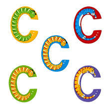 C: Fairtrade Wooden Animal Letter