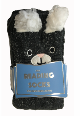 Reading Socks Kids Black Llama