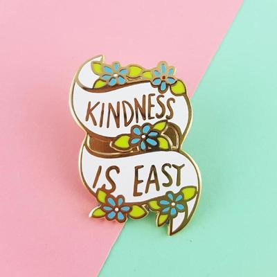 Large kindness is easy jubly umph lapel pin badge