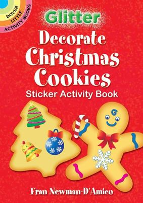 Glitter Decorate Christmas Cookies Sticker Activity Book