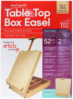 Large mea0039 mm table top box easel medium beech front