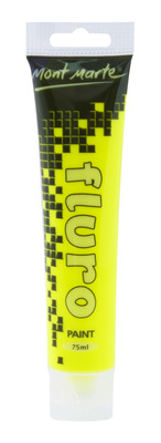 Fluro Acrylic Paint - Yellow 75ml PMFL0003