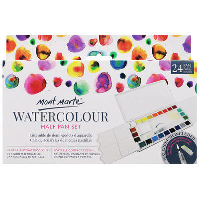 PMHS0036 MM Watercolour Half Pan Set 28pc
