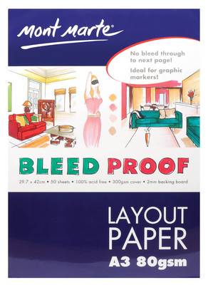 Bleedproof Layout Pad 80gsm 50 sheet  A3 MGRD0200