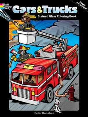 Cars and Trucks Stained Glass Coloring Book