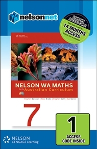 Nelson WA Maths 7 for the Australian Curriculum (1 Access Code Card)