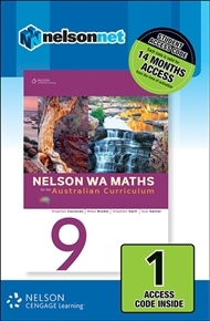 Nelson WA Maths 9 for the Australian Curriculum (1 Access Code Card)