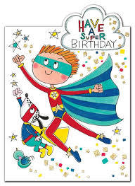 Card - Have a Super Birthday CHERRY20