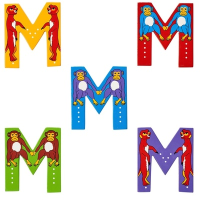 M - Fairtrade Wooden Animal Letter