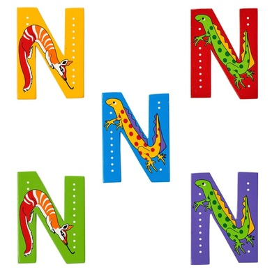 N: Fairtrade Wooden Animal Letter