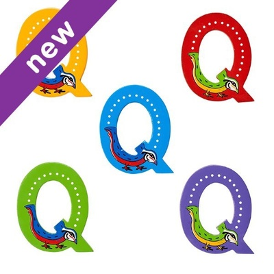 Q: Fairtrade Wooden Animal Letter