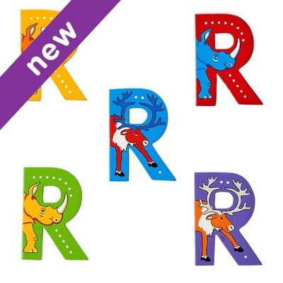 R: Fairtrade Wooden Animal Letter