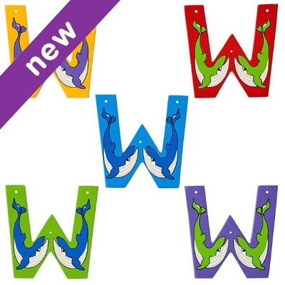 W: Fairtrade Wooden Animal Letter
