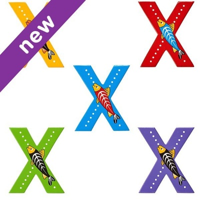 X: Fairtrade Wooden Animal Letter