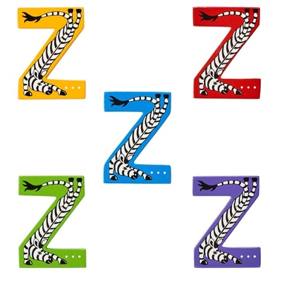 Z: Fairtrade Wooden Animal Letter