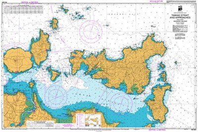 Tamaki Straight And Approaches Marine Map