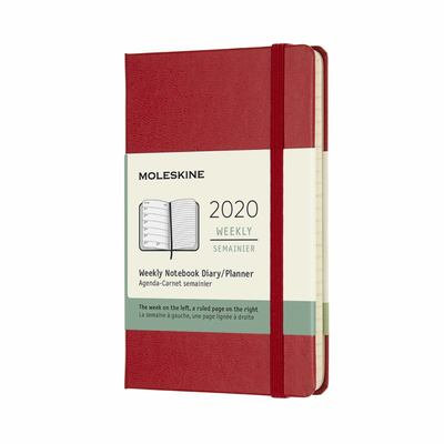 2020 Weekly Notebook Scarlet Red Pocket Hard Diary Moleskine