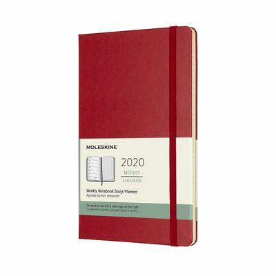 2020 Weekly Notebook Scarlet Red Large Hardcover Diary Moleskine