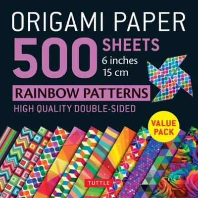 Origami Paper 500 Sheets - Rainbow Patterns 6 Inches 15 Cm